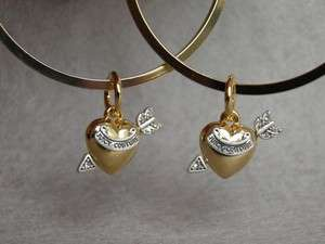 NEW AUTH Juicy Couture Heart Be Mine Hoop earrings