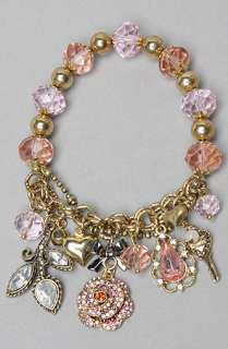 Betsey Johnson The Ombre Rose Half Stetch Charm Bracelet  Karmaloop