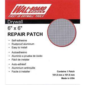 Wal Board Tools 6 in. x 6 in. Drywall Repair Self Adhesive Wall Patch