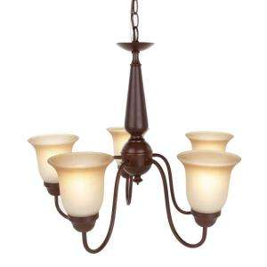Commercial Electric Nutmeg 5 Light Reversible Chandelier EFH8195M at