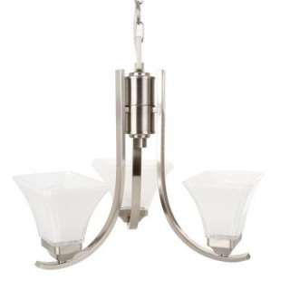 Hampton Bay Nove 3 Light Brushed Nickel Chandelier 17163 at The Home