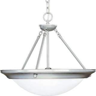 Progress Lighting Eclipse Collection Brushed Steel 3 light Foyer