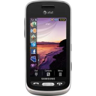 New Samsung SGH A887 Solstice   Black (AT&T) 3G Touch Cellular Phone