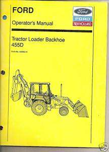 Ford 455D Tractor Loader Backhoe Operators Manual