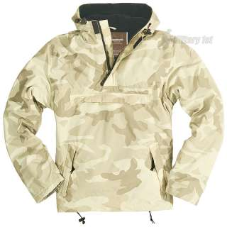 SURPLUS WINDBREAKER MENS HOODED JACKET WITH FLEECE POLAR DESERT STORM