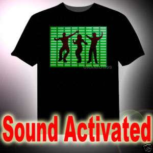 SOUND ACTIVATED LED EQUALIZER T SHIRT HIP HOP DANCE DJ