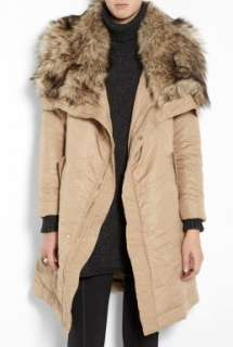 MICHAEL Michael Kors  Long Coat With Faux Fur Collar by MICHAEL