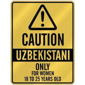 ONLY FOR WOMEN 18 TO 25 YEARS OLD  PARKING SIGN COUNTRY UZBEKISTAN