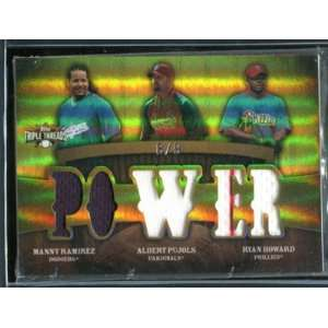 2009 Topps Triple Threads Ramirez Pujols Howard Jersey