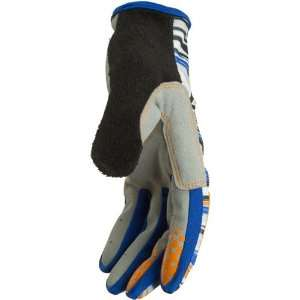 AXO Stingray Mens Bike Race BMX Gloves   Blue/Orange