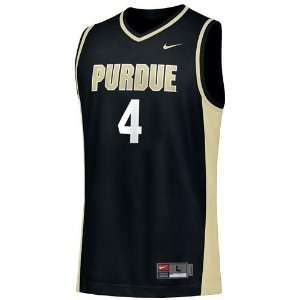 Nike Purdue Boilermakers #4 Black Replica Basketball Jersey