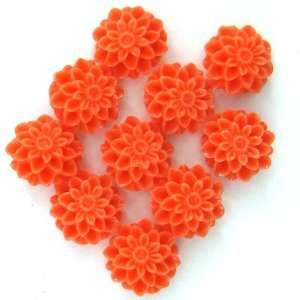 10mm pink coral carved chrysanthemum flower pendant bead