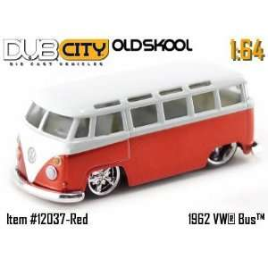Jada Dub City Oldskool Red & White 1962 VW Bus 164 Scale
