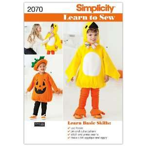 Simplicity Sewing Pattern 2070 Learn To Sew Toddlers Costumes