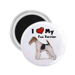 I Love My Fox Terrier Refrigerator Magnet
