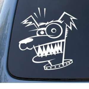 MAD DOG   Crazy Puppy Cujo   Vinyl Car Decal Sticker #1321