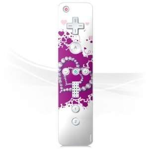 Design Skins for Nintendo Wii Controller   Diamond Heart Design