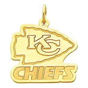 14K Gold NFL Kansas City Chiefs Logo Charm Sports