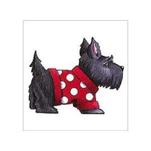 Plaid Mary Engelbreit Wood Mounted Stamp, Too Cute Scottie