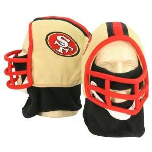 San Francisco 49ers Football Helmet Winter Knit Hat (With Removable