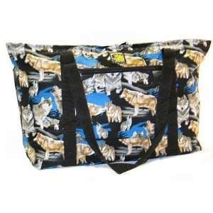 Wolves Wolf Deluxe Tote Bag by Broad Bay  Sports