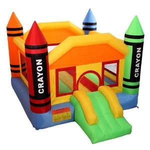 Cloud 9 Mini Crayon Bounce House   Inflatable Bouncing