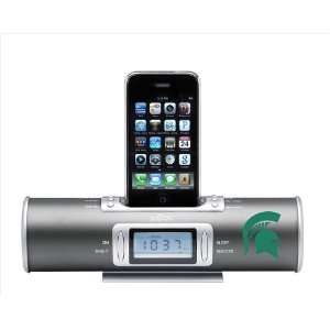 NCAA Michigan State Spartans XiDoc iPod Docking Station/Clock Radio
