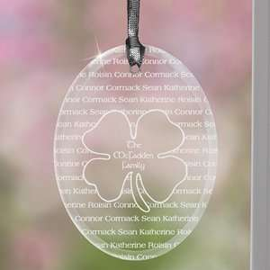 Family Personalized Four Leaf Clover Suncatcher Patio, Lawn & Garden