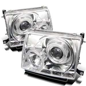 2000 Toyota Tacoma Halo LED Projector Headlights   Chrome Automotive