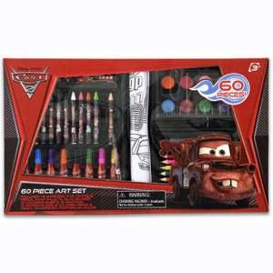 Pixar Cars Lightning McQueen 60 Piece Art Set with Case Toys & Games