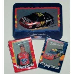 Jeff Gordon ~ Nascar Driver   3 D Collector Tin   With Playing Cards