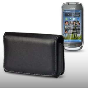 com NOKIA C7 BLACK SOFT PU LEATHER HORIZONTAL CASE BY CELLAPOD CASES