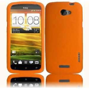 Orange Soft Silicone Skin Gel Cover Case for HTC One X (AT