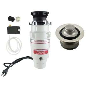 WasteMaster 1/2 HP Disposal with Stinless Steel Air Switch/Flange Kit