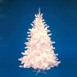 New   6 Pre Lit Majestic White Christmas Tree   Clear