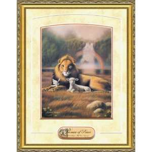 Christian Framed Art by William Hallmark   Promise of Peace 26 x 32