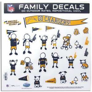BSS   San Diego Chargers NFL Family Car Decal Set (Large