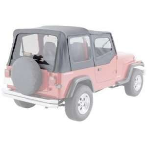 SOFT TOP, RUGGED RIDGE, FACTORY REPLACEMENT WITH DOOR SKINS, 20 MIL