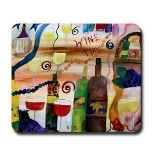 Wine Time Art Mousepad by