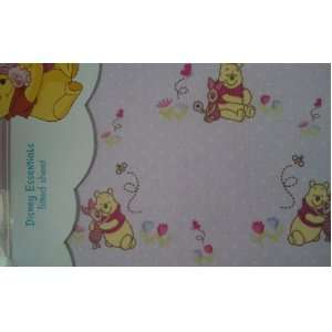 Disney Winnie the Pooh & Piglet Baby Girl Fitted Crib Sheet Baby