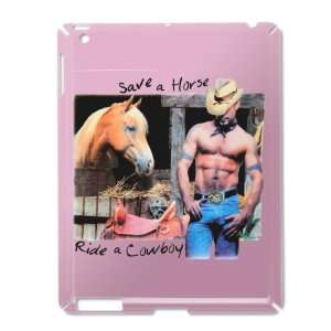 iPad 2 Case Pink of Country Western Cowgirl Save A Horse Ride