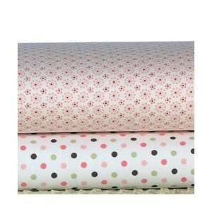 Easy Fit Crib Sheet in Mod Flower Pink Print Baby