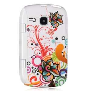 rubber case with autumn flowers design for the Samsung Double Time
