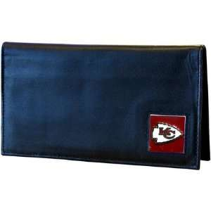 Kansas City Chiefs Leather Checkbook Cover  Sports