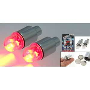 Red LED Light Car Motorcycle Wheel Bike Valve Tyre Caps Automotive