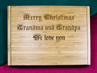 Soiree Cheese Board Set Personalized Gift   Merry Christmas Grandma