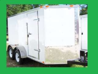 NEW 6X14 3500# TANDEM ROAD DOG TRADESMAN ENCLOSED CARGO OR MOTORCYCLE