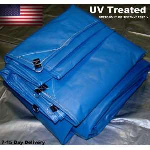 18x40 New Heavy Duty USA Blue Tarp