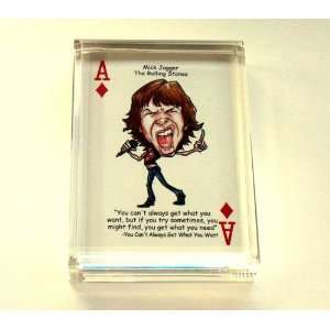 Mick Jagger The Rolling Stones paperweight or display piece