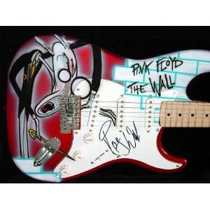 PINK FLOYD ROGER WATERS Autographed AIRBRUSHED Guitar